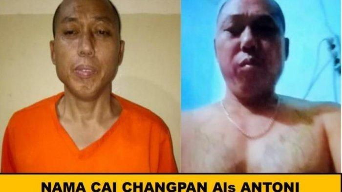 Selebaran buronan narapidana kasus narkoba Cai Chang Pan alias Cai Ji Fan (53) yang kabur dari Lembaga Pemasyarakatan (Lapas) Kelas 1 Tangerang.