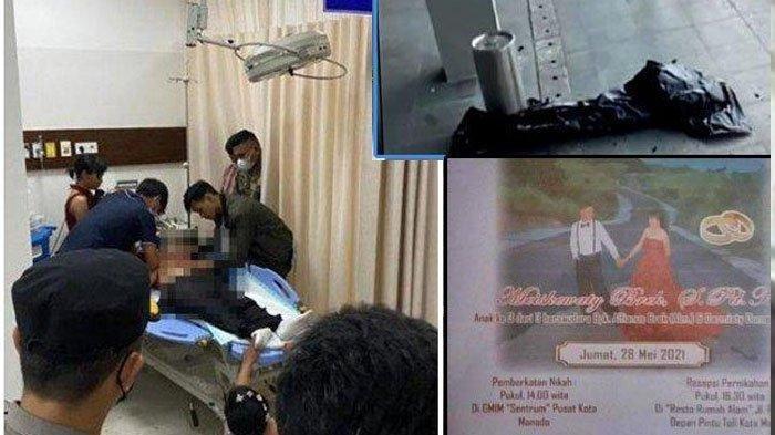 Calon pengantin pria ditemukan bersimbah darah di area samping kolam hotel berbintang diManadoSulut.