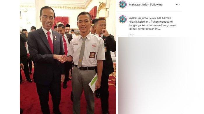 Koko Bertemu Jokowi, 'Tuhan Ganti Tangisnya Jadi Senyuman di Hari Kemerdekaan'