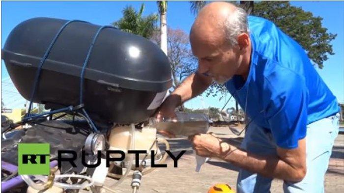 Pria Ini Ciptakan Motor Berbahan Bakar Air, Hasil Terbaik dari Air Sungai Tercemar, Begini Jelasnya