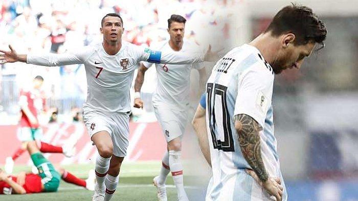 Ini 3 Alasan Kenapa Lionel Messi Tak Bisa Kalahkan Keganasan Cristiano Ronaldo di Piala Dunia