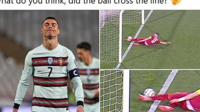 Cristiano Ronaldo Kecewa Putusan Wasit, Tidak Syahkan Gol Padahal Sudah Lewati Garis