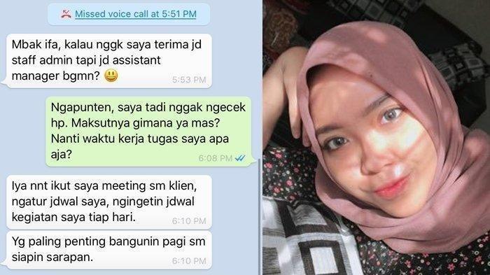 Gadis ini Melamar Kerja Malah Balik Dilamar Jadi Istri, Begini Reaksi Bos Saat Tahu Kisahnya Viral