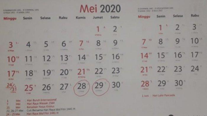 Resmi Ditetapkan Pemerintah, Ini Daftar Libur Nasional dan Cuti Bersama 2020 Digeser ke Desember