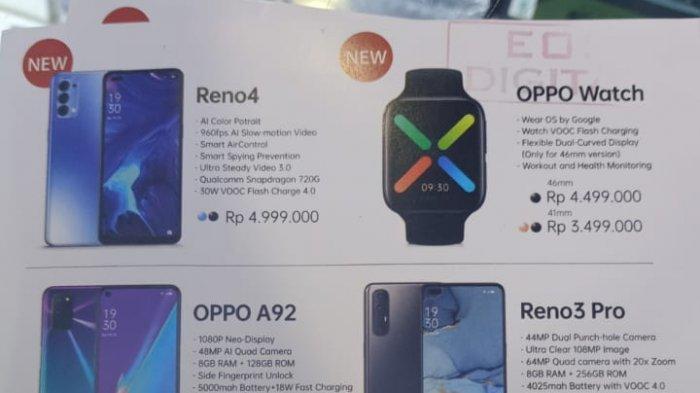 Update Harga Handphone Oppo Terbaru 10 September 2020