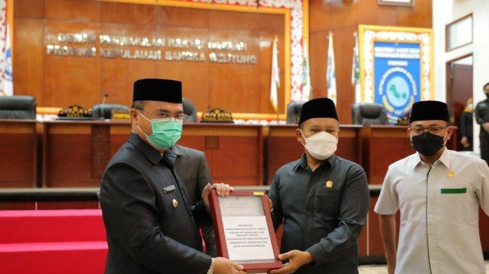 Gubernur Bangka Belitung  Terima 17 Rekomendasi DPRD Terkait LKPJ TA 2020
