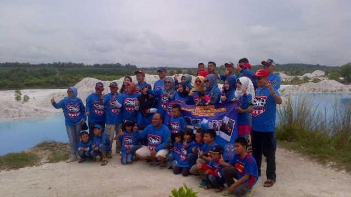 Anggota Forci Kepincut Indahnya Danau Biru Kaolin