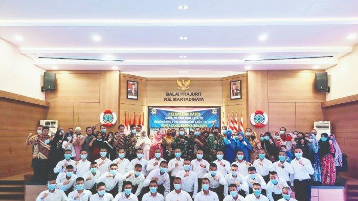 Danlanal Bangka Belitung Lepas 33 Calon Prajurit TNI AL