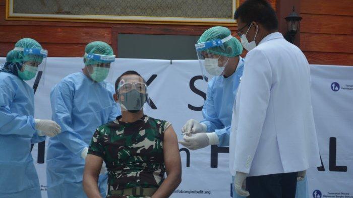 Saat Vaksin Sinovac, Danrem 045/Gaya Jadi Orang Kedua, Setelah Gubernur Bangka Belitung