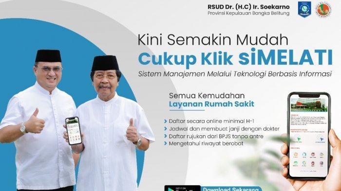 Cukup Klik siMelati, Masyarakat Tidak Perlu Antre di RSUP DR HC Soekarno Hatta