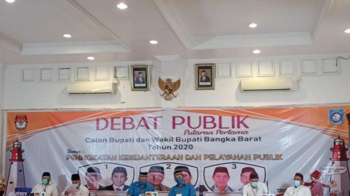 Debat Publik Pilkada 2020 Bangka Barat, Penyampaian Visi Misi Jadi Babak Pemanasan