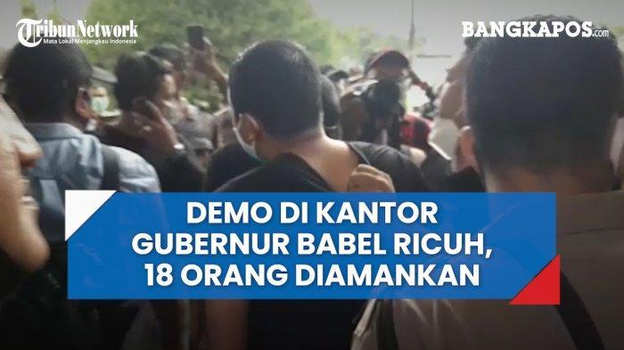 Polisi Jadi Korban Demo di Kantor Gubernur Bangka Belitung, Kaki Briptu Refangga Patah Ditabrak