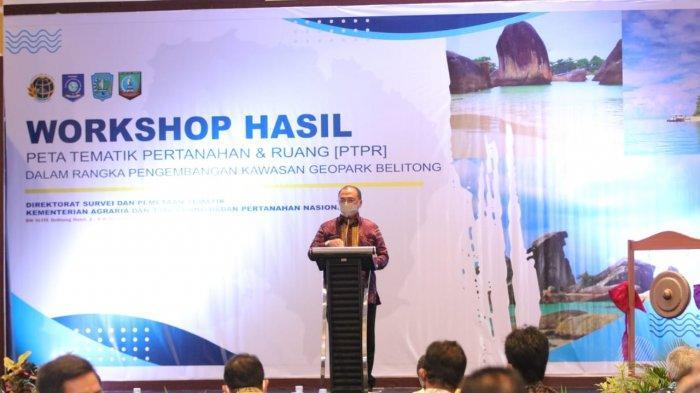 Gubernur Bangka Belitung Fokus Penyusunan Tata Ruang, Peta Tematik Global Geopark Belitung