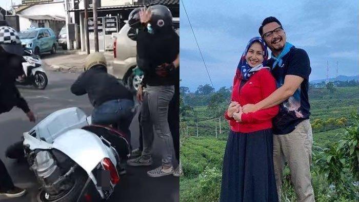 Deswita Maharani istri dari Ferry Maryadi alami kecelakaan motor