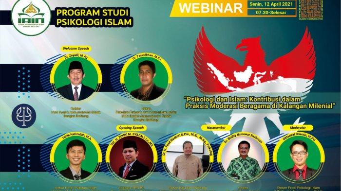 Prodi Psikologi Islam IAIN SAS Bangka Belitung Gelar Webinar Nasional Moderasi Beragama