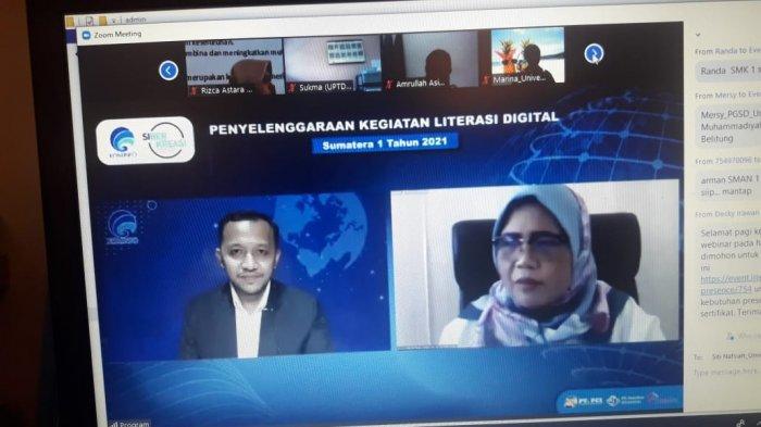 Dekan Fakultas Tarbiyah IAIN SAS Babel Narasumber Webinar Nasional Literasi Digital