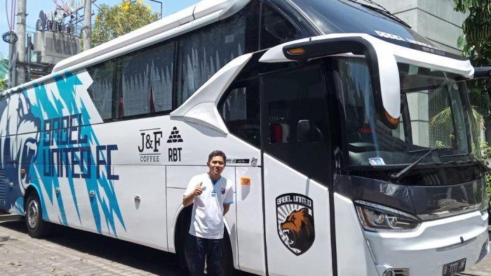 Babel United FC Miliki Bus Official, Diko : Lihat Interior Seperti Kabin Pesawat