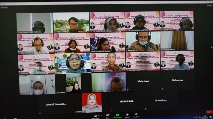 BAN-PT Lakukan Asesmen Lapangan Daring Prodi PIAUD IAIN SAS Bangka Belitung