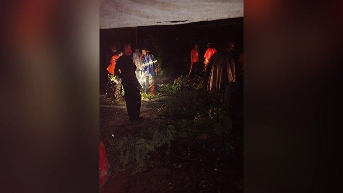 Usai Lakukan Evakuasi Pohon Tumbang Di Warkop 99, Petugas BPBD Langsung Meluncur Ke Lontong Pancur