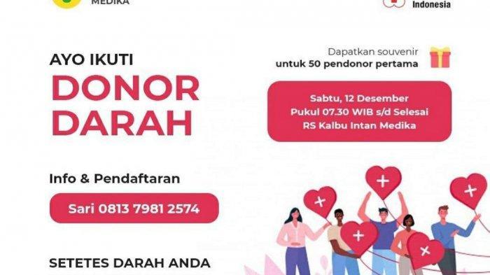 Bantu Stok Darah, Rumah Sakit Kalbu Intan Media dan PMI Menggelar Donor Darah