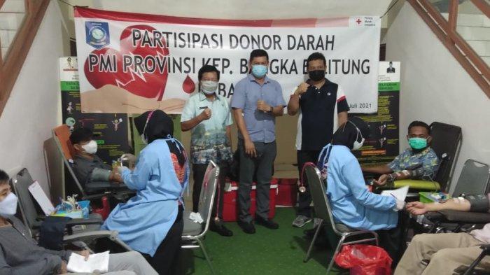 Abdul Fatah Pimpin Aksi Donor Darah PMI di Pemprov Babel, Bantu Ketersediaan Darah bagi Masyarakat