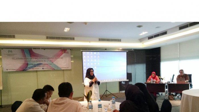 DP3ACSKB Gelar Pelatihan PPRG bagi Auditor Bangka Belitung