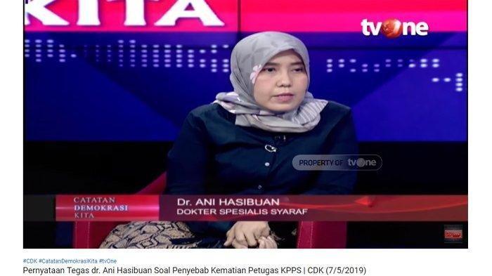 Dokter Ani Hasibuan Sebut Kematian 554 Petugas KPPS Bukan Karena Kelelahan, Prabowo Minta Visum