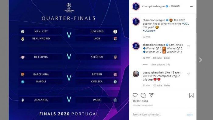 Hasil Drawing Liga Champions Eropa 2020 Akankah Juventus Bertemu Real Madrid Dan Munchen Vs Barca Bangka Pos