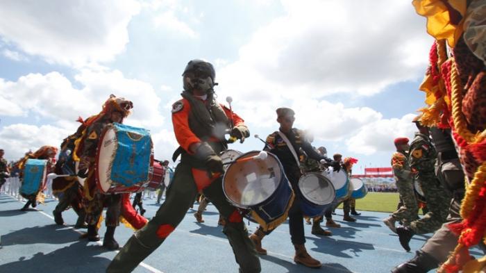 Drumband Babel Target 6 Medali di Kejurnas Junior