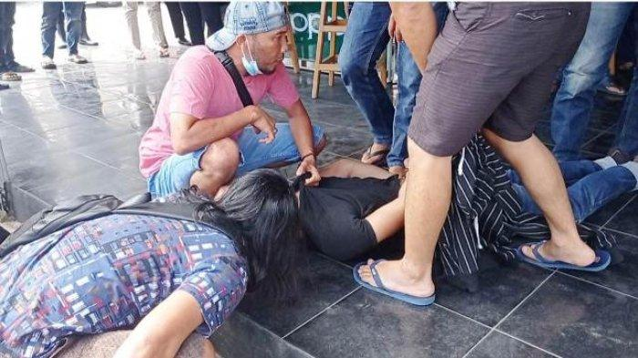 Kedua pelaku pencurian dengan kekerasan (Curas) diamankan Tim Naga Polres Pangkalpinang, Selasa (2/3/2021).