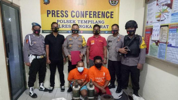 Dalam Hitungan Jam, Polisi Ringkus 2 Pencuri Dinamo Senilai Rp20 Juta Milik PT Sawindo