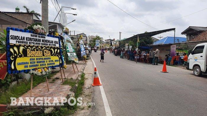 Suasana rumah duka, di Jalan Kenangan, Kelurahan Masjid Jamik, Kota Pangkalpinang. Selasa (19/1/2021) siang