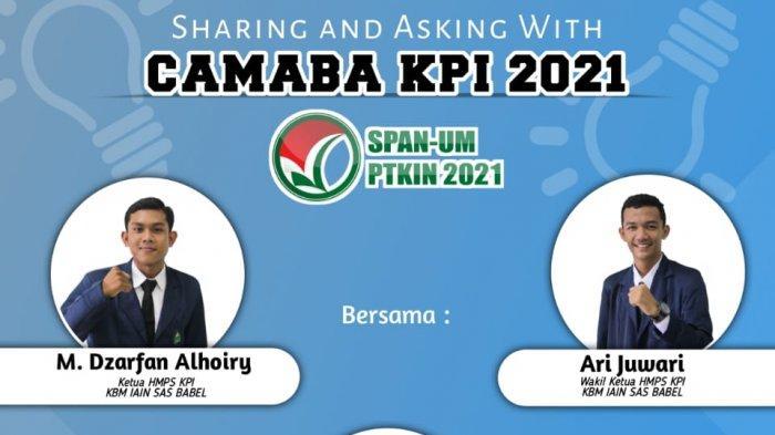 HMPS Prodi KPI IAIN SAS Babel Gelar Sharing and Asking With Camaba SPAN PTKIN