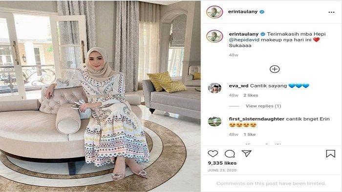 Erin Taulany tampil soleha dengan mengenakan Hijab