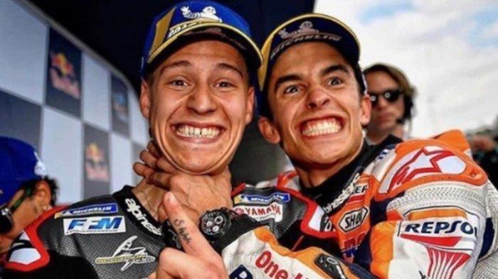LIVE STREAMING MotoGP Sirkuit Jerez, Pole Position Fabio Quartararo Posting Foto Dicekik Marquez