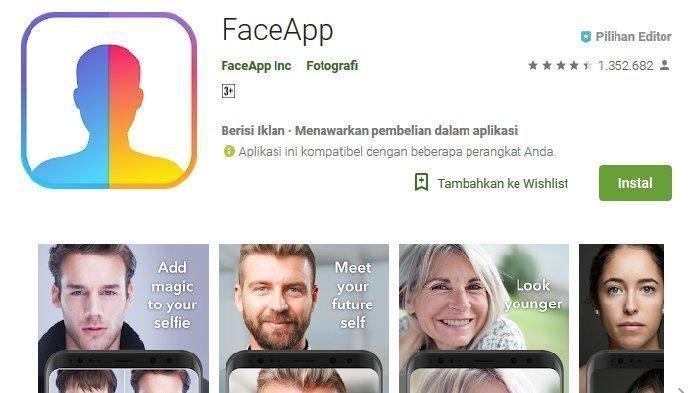 Cara Aman dan Langkah Hindari Bahaya Gunakan FaceApp Aplikasi Wajah Tua