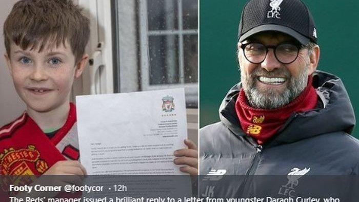 Kirim Surat untuk Klopp, Penggemar Cilik Man United Diundang ke Old Trafford, Berikut Isi Suratnya