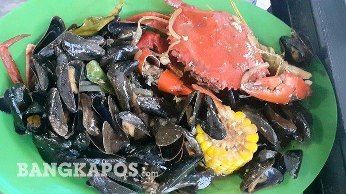 Olahan seafood Kerang Good Looking