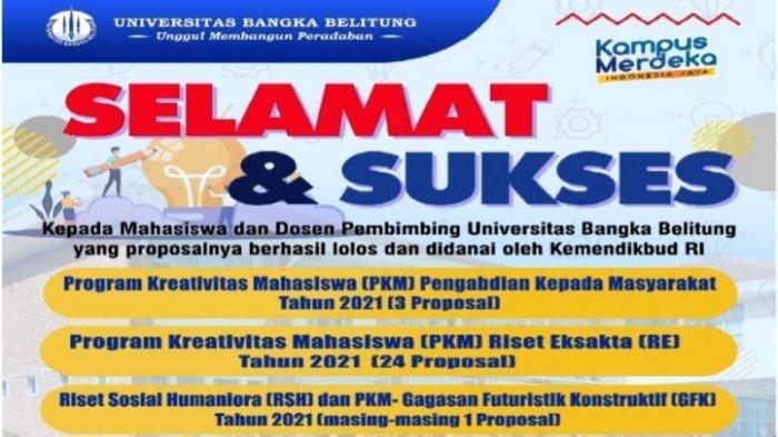 29 Proposal Mahasiswa UBB Didanai Dikti, Raih Rekor Tertinggi Lolos Seleksi PKM