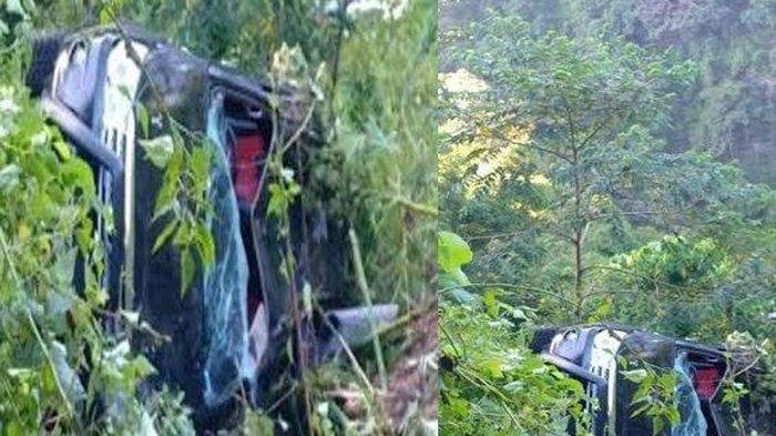 Toyota Fortuner Terjungkal Jurang Sedalam 50 Meter, Bodi Remuk, Penumpang Selamat