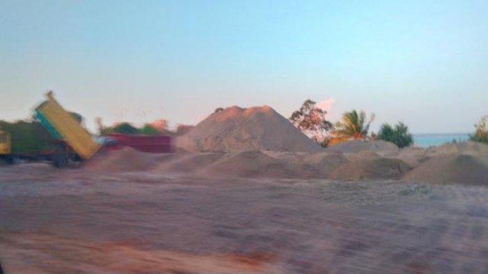 Pemkab Basel Keluarkan Surat Penghentian Penambangan Pasir Kuarsa di Pantai Kubu