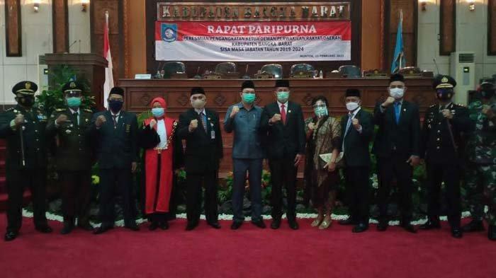 Marudur Melenggang ke Kursi Ketua DPRD Bangka Barat, Pengganti H Badri Syamsu Dilantik