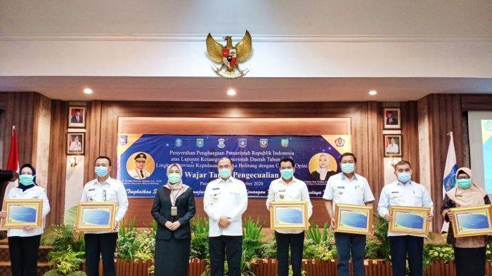 Raih Opini WTP LKPD 2019, Pemkab Bangka Barat Terima Penghargaan Kemenkeu RI - foto-bersama-usai-penyerahan-piagam-penghargaan.jpg