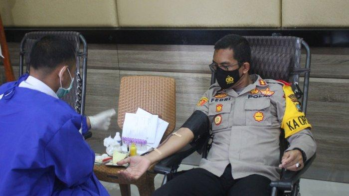 HUT ke- 70 Polairud Polres Babar Diisi kegiatan Donor Darah