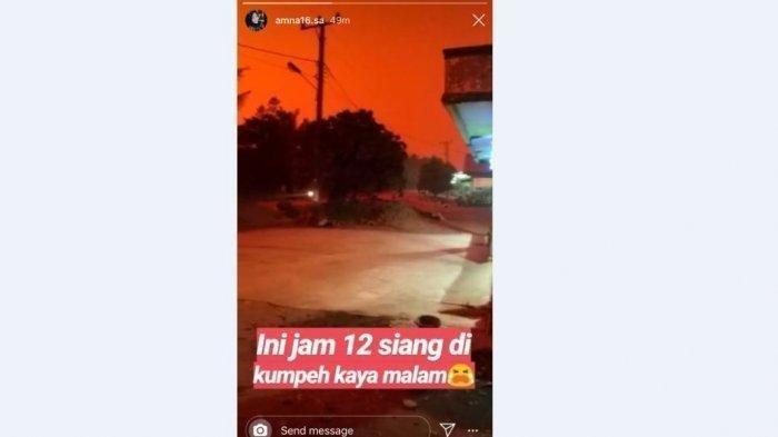 Langit Jambi Berubah dari Oranye Hingga Merah, Benarkah Terkait Asap? Ini Penjelasannya