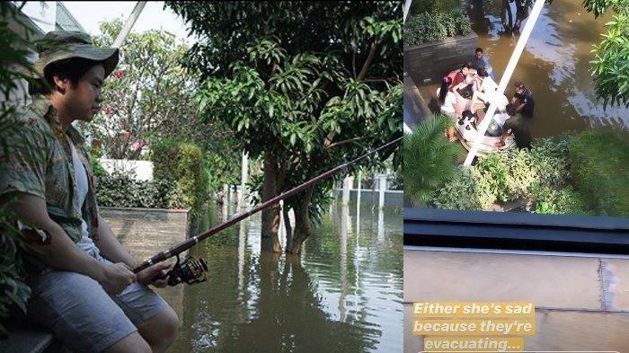 RUMAH Ahok BTP Terdampak Banjir, Nicholas Sean Unggah Foto Mancing Depan Rumah