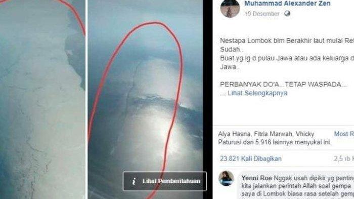 VIRAL-Penampakan Foto Retakan di Laut Jadi Potensi Gempa Maha Dasyat, Begini Penjelasan BMKG