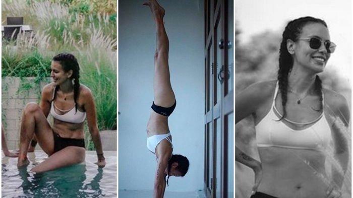 Ketiga foto seksi bugar Sophia Latjuba ini menuai pujian dari banyak netizen di instagram.
