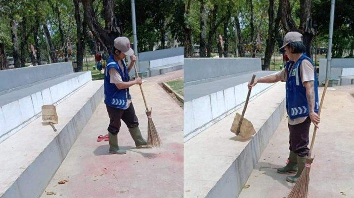 Nasib Pelaku Vandalisme Taman Kota Pangkalpinang Dihukum Menyapu dan Bersih-bersih Selama Sebulan