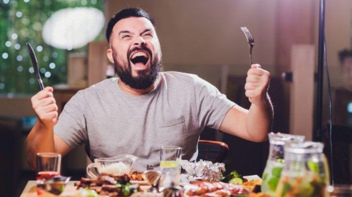 Ilustrasi makan berlebihan
